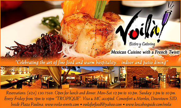 Voilá Bistro & Catering- Ads Proofs - Los Cabos Visitor's Guide ...